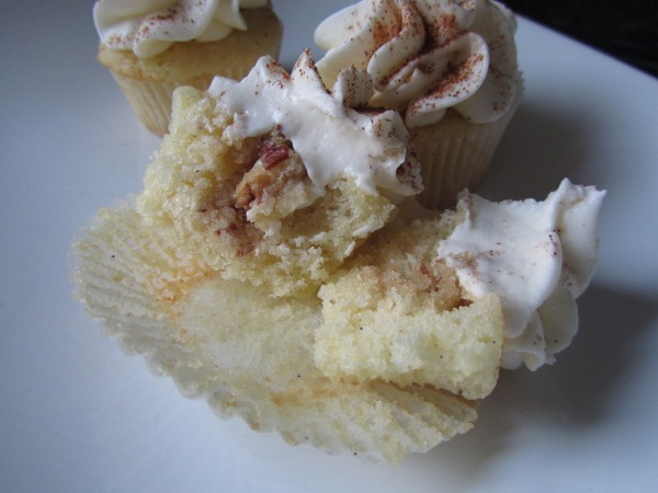 inside the cupcakes