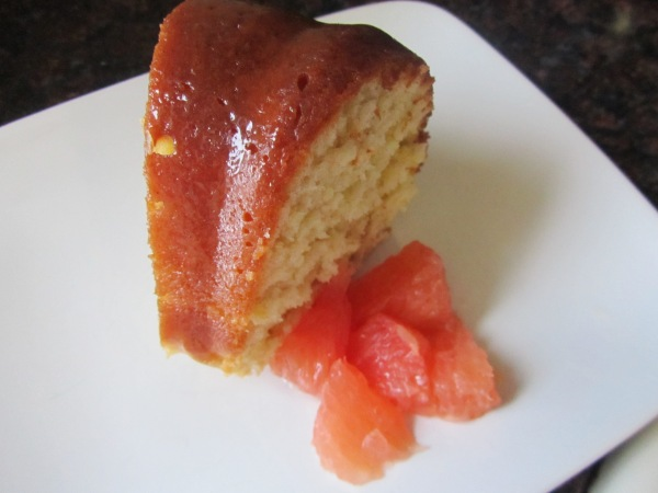 Honey glazed grapefruit bundt cake