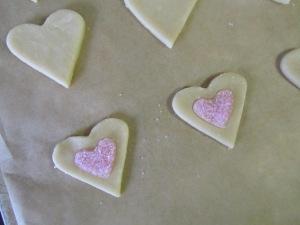 shortbread cookie hearts