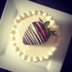 chocolate strawberry mini cake